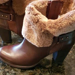 Ugg Leather and Fur boots,  New!